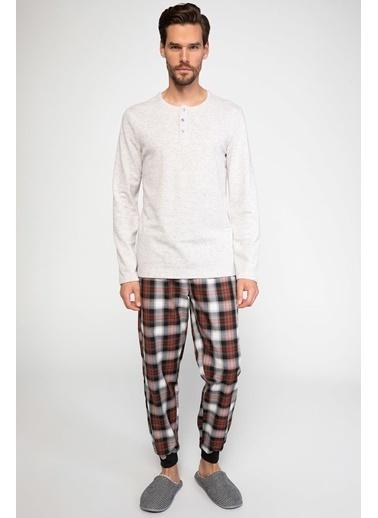 DeFacto Pijama Takım Bej